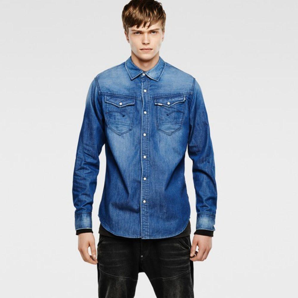 g star herren jeans hemd 83602e6583 071 arc 3d shirt l s blau gr xxl. Black Bedroom Furniture Sets. Home Design Ideas