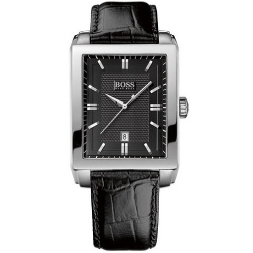 hugo boss 1512771 uhr herrenuhr lederarmband datum schwarz kaufen bei. Black Bedroom Furniture Sets. Home Design Ideas