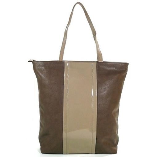 esprit lynne grau braun l15053 damen handtasche tasche shopper schultertasche ebay. Black Bedroom Furniture Sets. Home Design Ideas