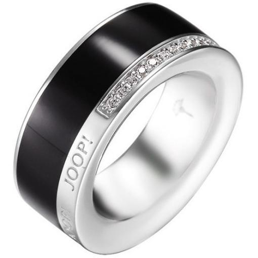 joop jprg90653a damen ring jessica sterling silber schwarz. Black Bedroom Furniture Sets. Home Design Ideas