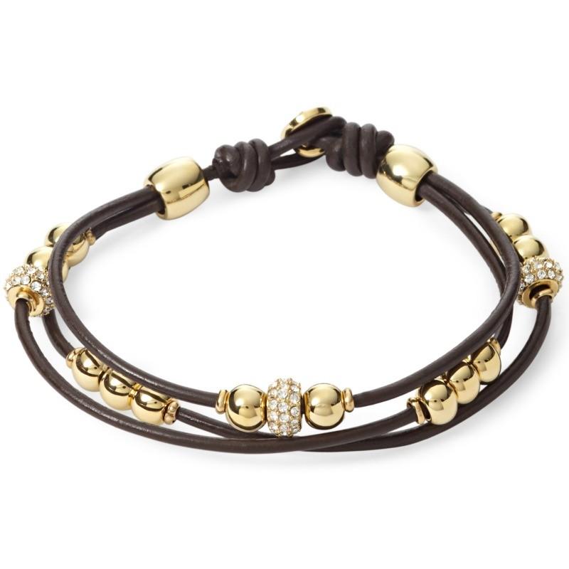 fossil ja6069 damen armband leder braun glasstein wei 19 5 cm ebay. Black Bedroom Furniture Sets. Home Design Ideas