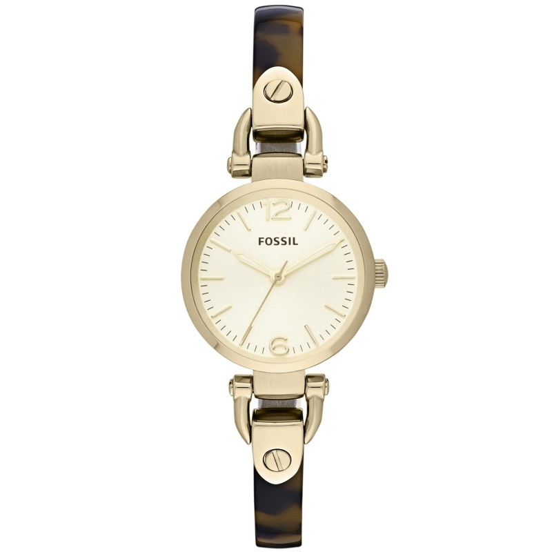 Armbanduhr braun gold damen