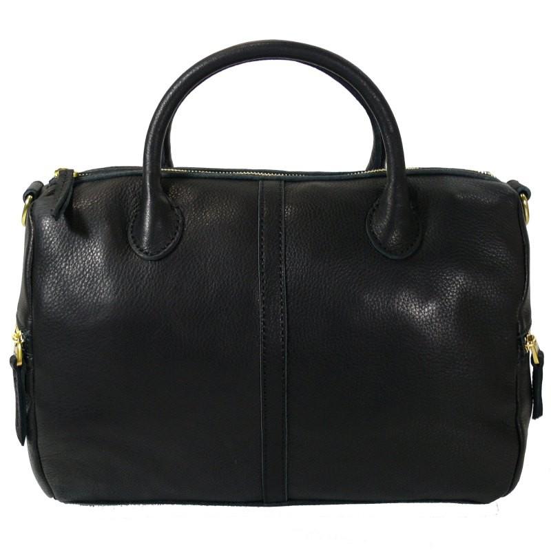 fossil erin satchel schwarz zb5464 001 leder handtasche tasche schultertasche. Black Bedroom Furniture Sets. Home Design Ideas