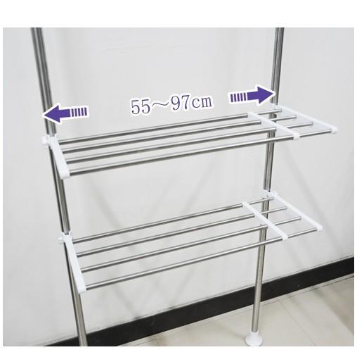 multi shelving rack silber dq 0777 26 waschmaschinenregal teleskop regal ebay. Black Bedroom Furniture Sets. Home Design Ideas