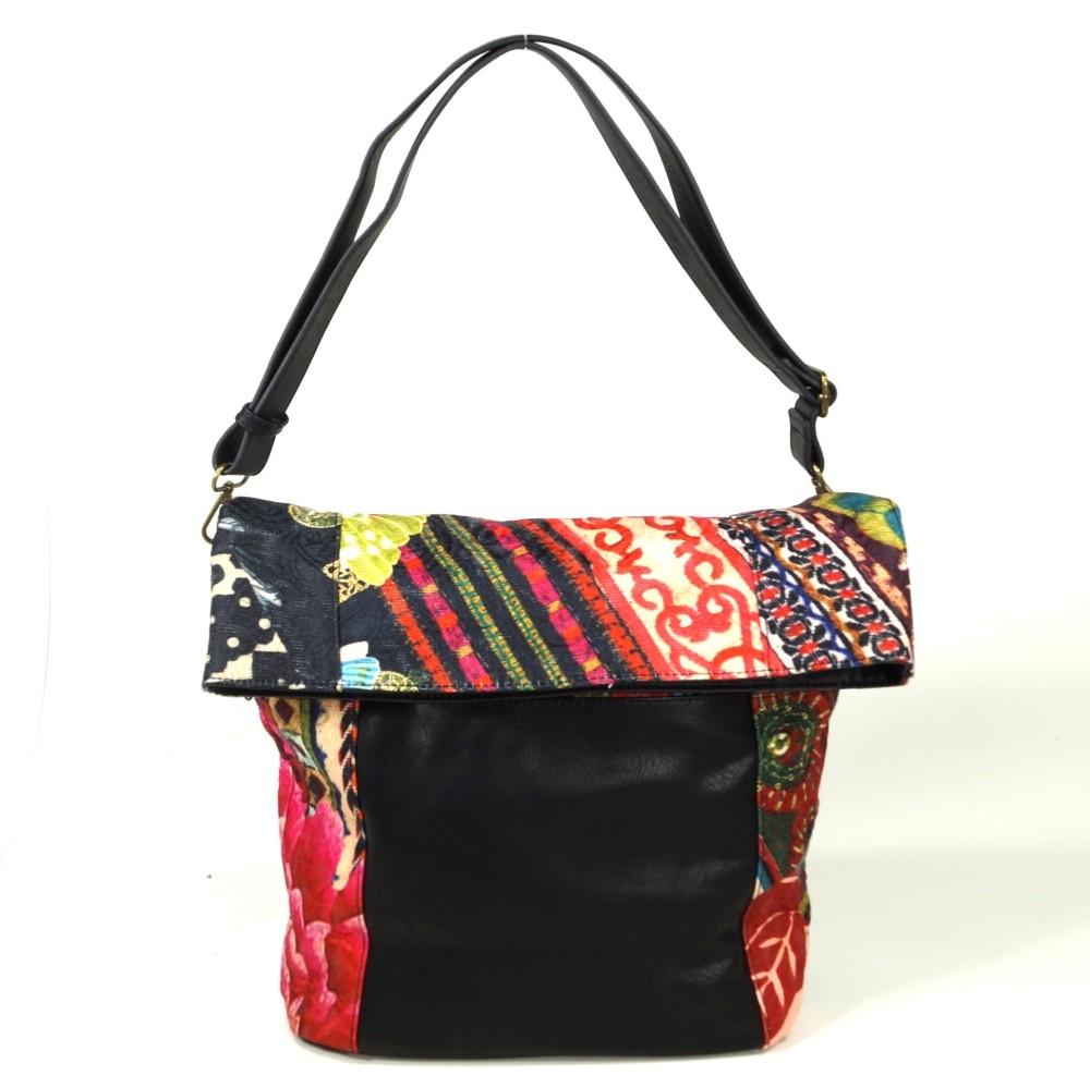 Bols Ibiza Casilda Schwarz Pink 67X51B9 Handtasche Tasche