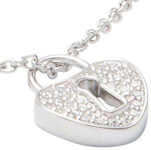 JF17958 Damen Halskette JF 17958 Silber Herz 45 cm mit Zirkonia weiß Kette