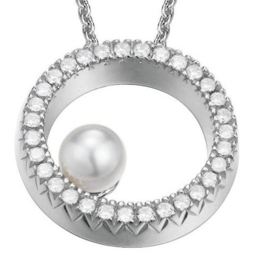 esprit esnl92326a420 damen collier brilliance pearl silber. Black Bedroom Furniture Sets. Home Design Ideas