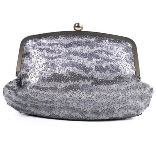 KORA CLUTCH Silber K15080-041 Damen Clutch Tasche Abentasche
