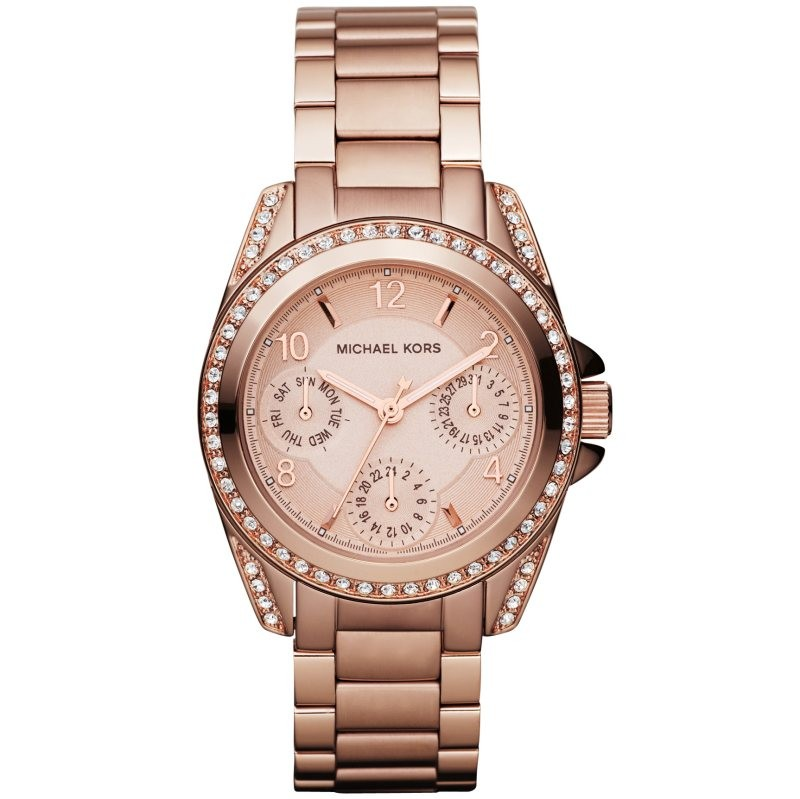 MK5613 BLAIR MINI Uhr Damenuhr Edelstahl Datum rosé