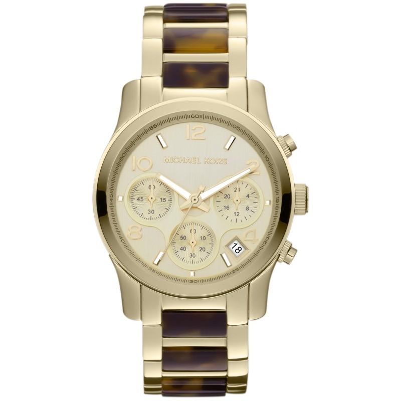 MK5659 RUNWAY Chronograph Uhr Damenuhr Edelstahl gold