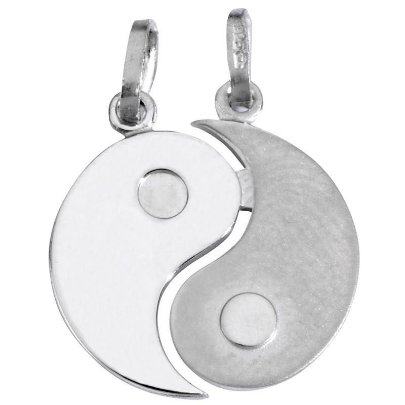 SL08 Anhänger Partneranhänger Yin Yang Silber
