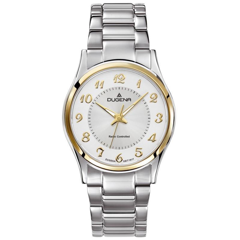 4460552 Funkuhr Uhr Damenuhr Edelstahl silber bicolor