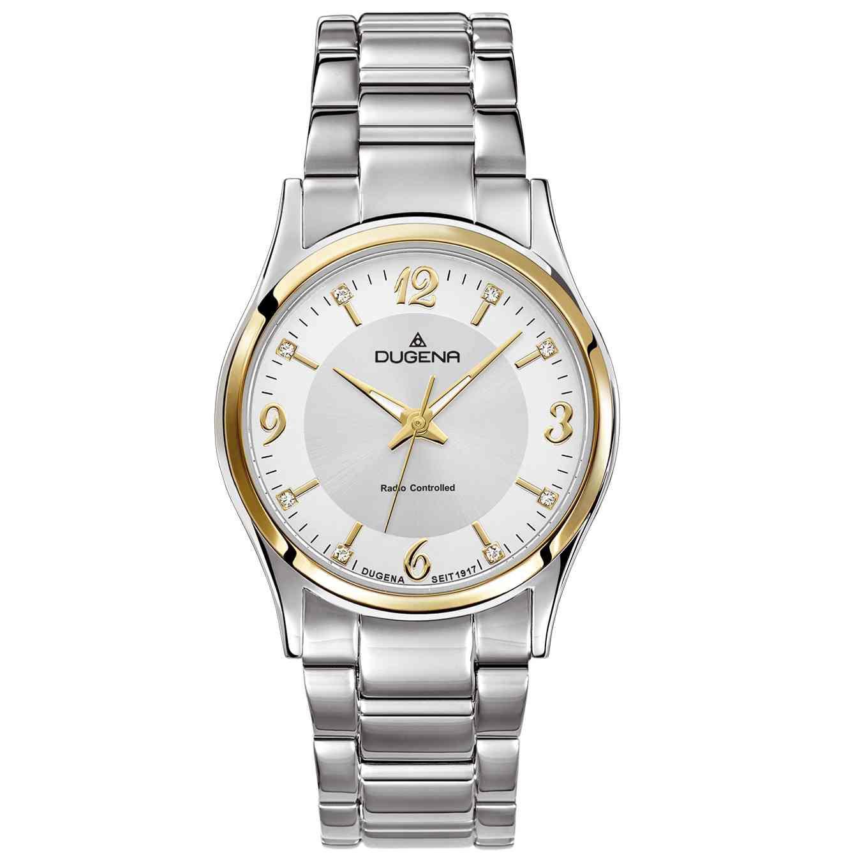 4460553 Funkuhr Uhr Damenuhr Edelstahl bicolor